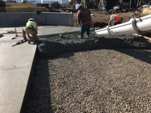 utah concrete pouring project