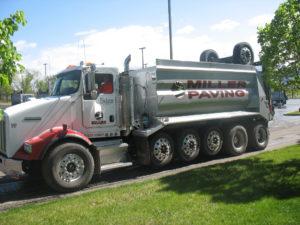 utah hauling Miller Paving truck